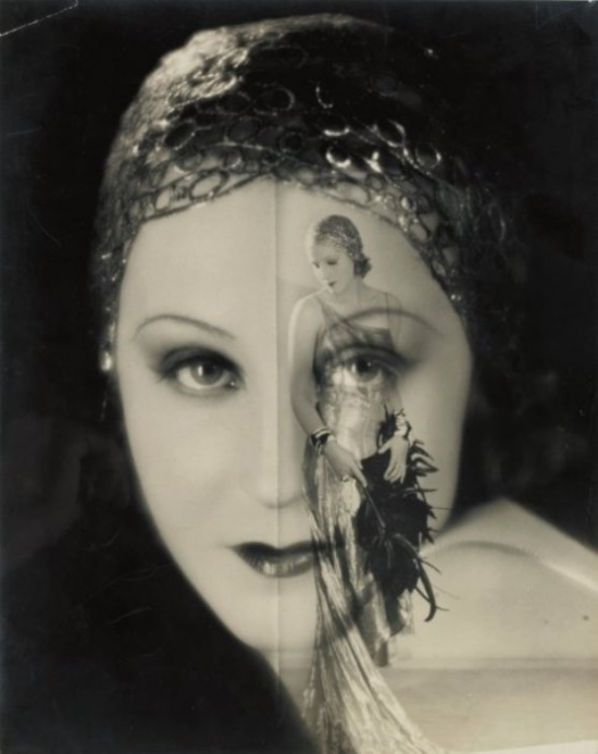 Two portraits of Brigitte Helm from L'Argent (1928), reproduced on the cover of the magazine Berliner Zeitung Illustrirte January 13, 1929