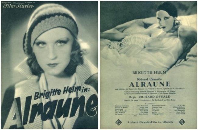 """Advertising poster for the movie """"Alraune"""", 1928"""