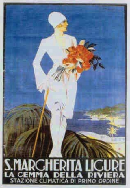 Santa Margherita Ligure advertising poster, Ligurian Riviera, 1920s