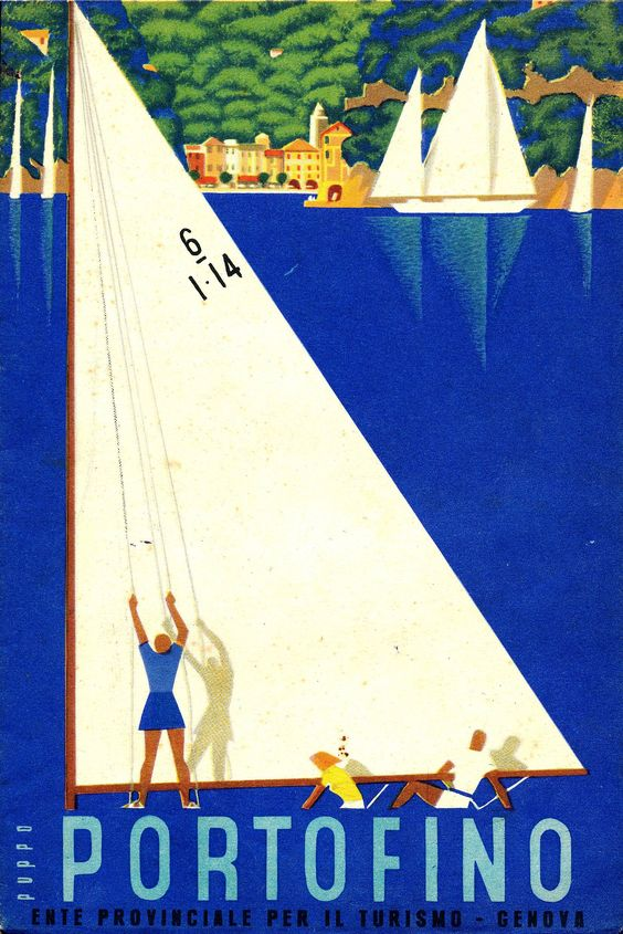 Portofino advertising poster, Ligurian Riviera, 1941