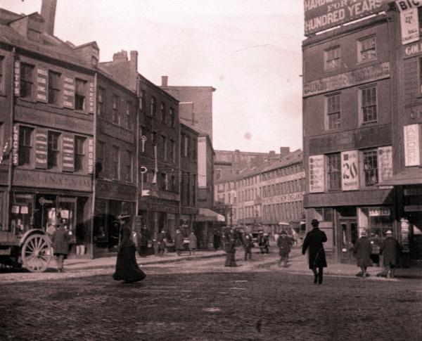 Boston North Street, North End, 1885