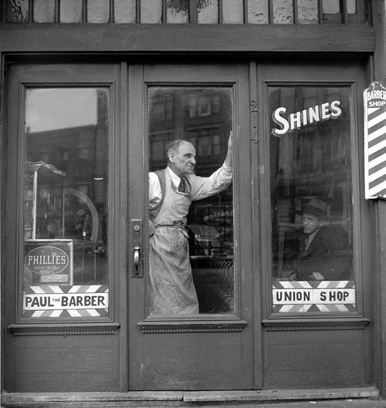 Paul the Barber, historic district of North End, By Jules Aarons, Boston, 1950s