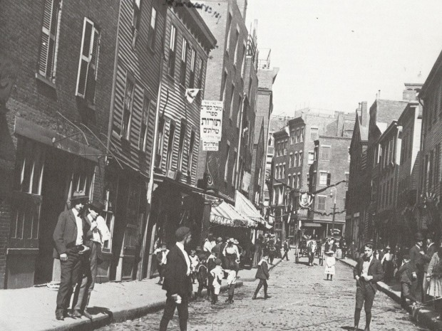"Salem Street, Boston North End,  1901 (Picture from ""Finding Lost Space"" by Roger Trancik)"