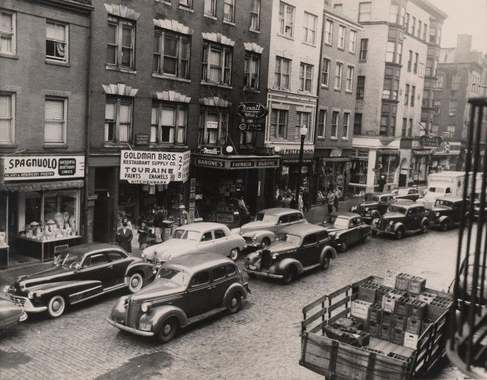 Salem Street, historic district of North End, Boston, 1948 (City of Boston Archives)