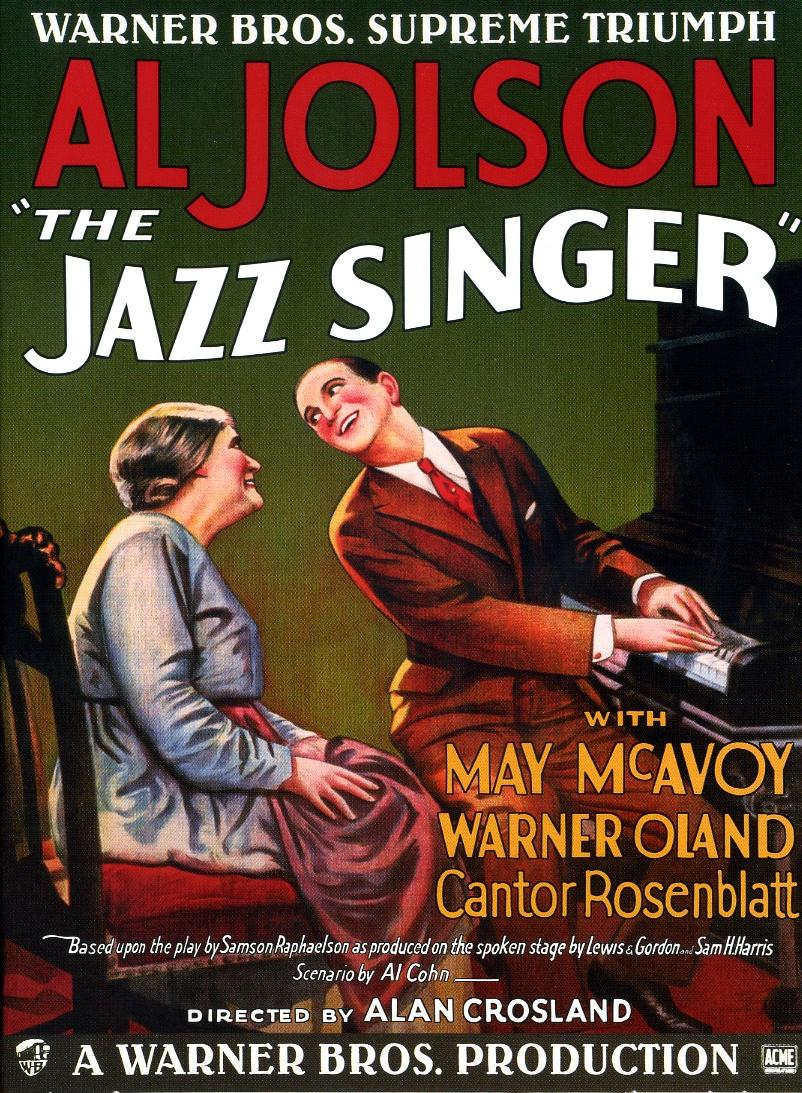 Poster for The Jazz Singer directed by Alan Crowland, 1927