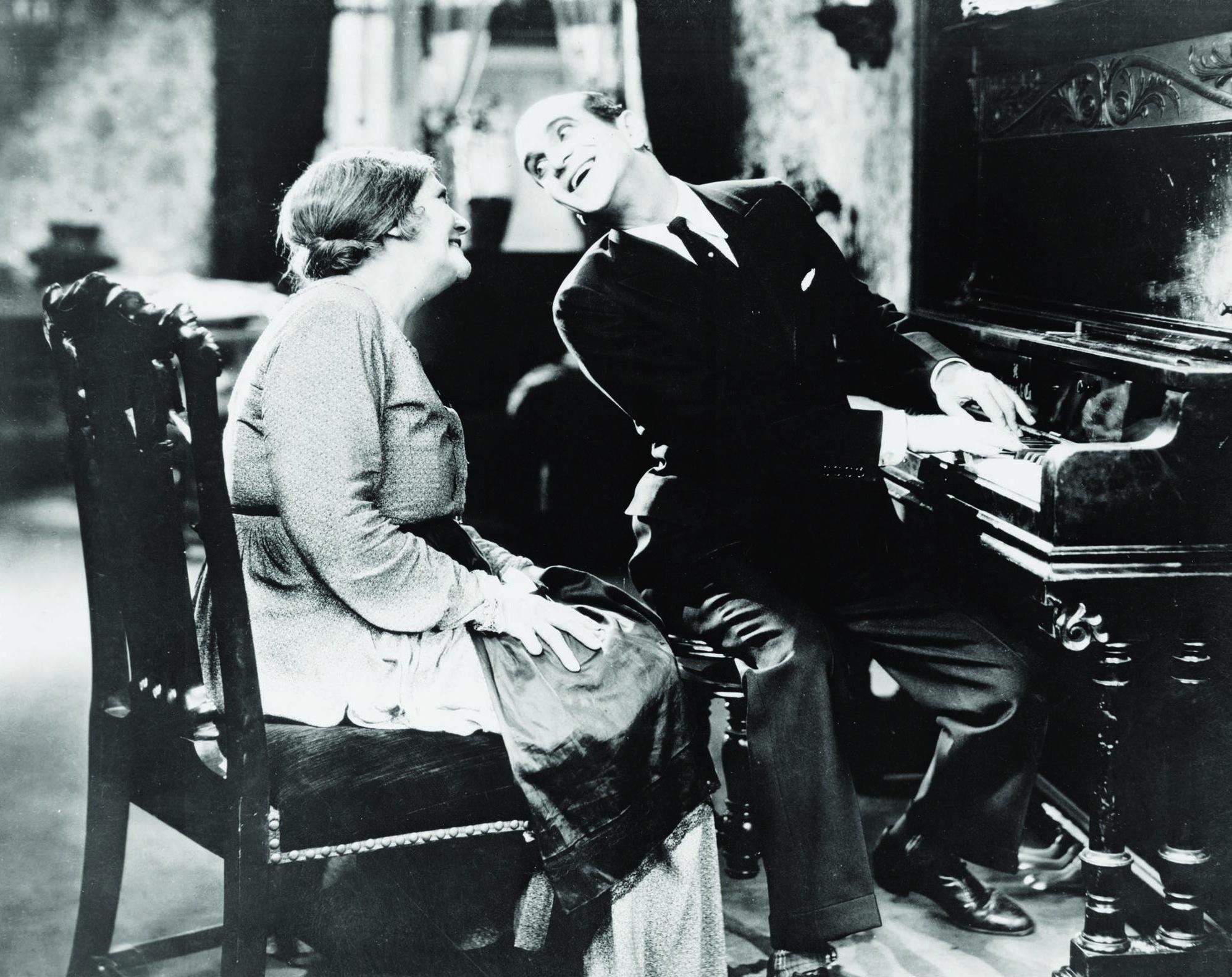 Eugenie Besserer and Al Jolson in  The Jazz Singer  directed by Alan Crowland, 1927