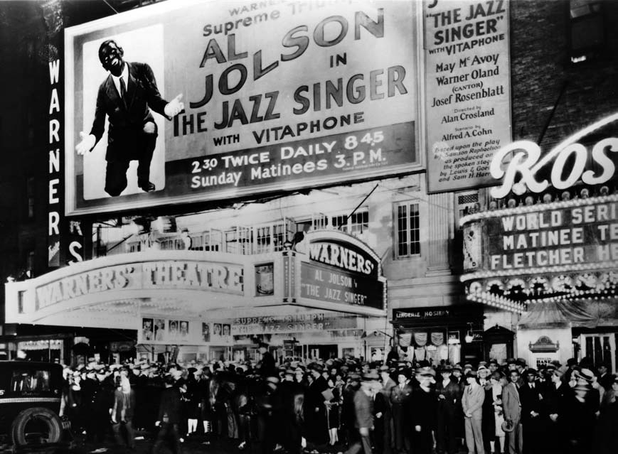 Premiere of  The Jazz Singer at Warner Bros.' flagship theater in New York City, October 6, 1927