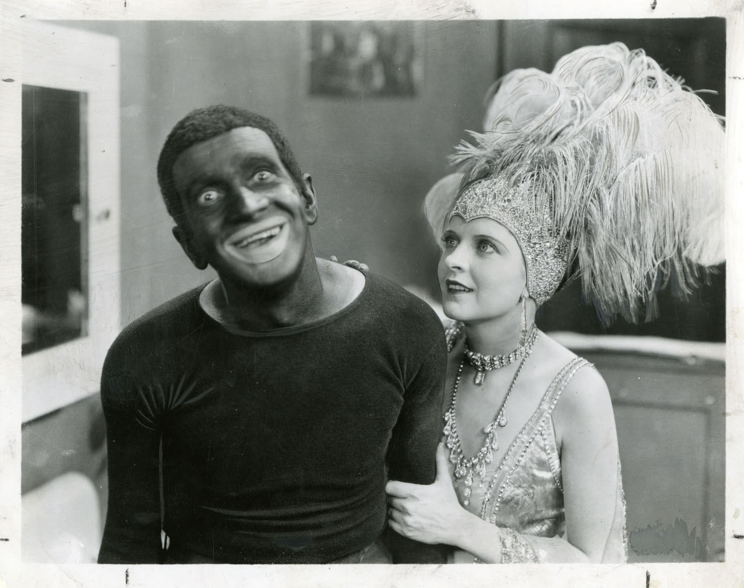 Al Jolson and May McAvoy in  The Jazz Singer  directed by Alan Crowland, 1927