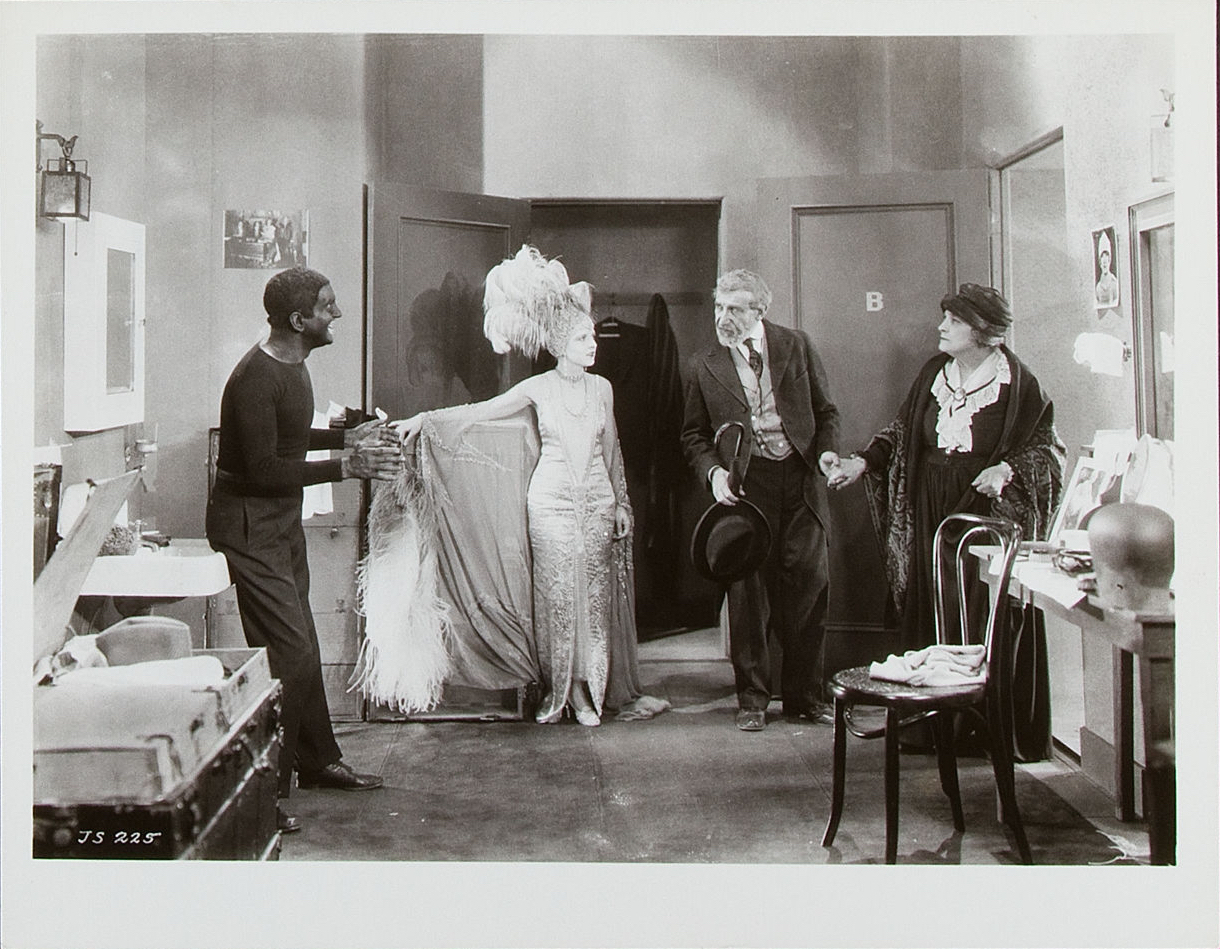 Al Jolson, May McAvoy, Otto Lederer and Eugenie Besserer in  The Jazz Singer  directed by Alan Crowland, 1927