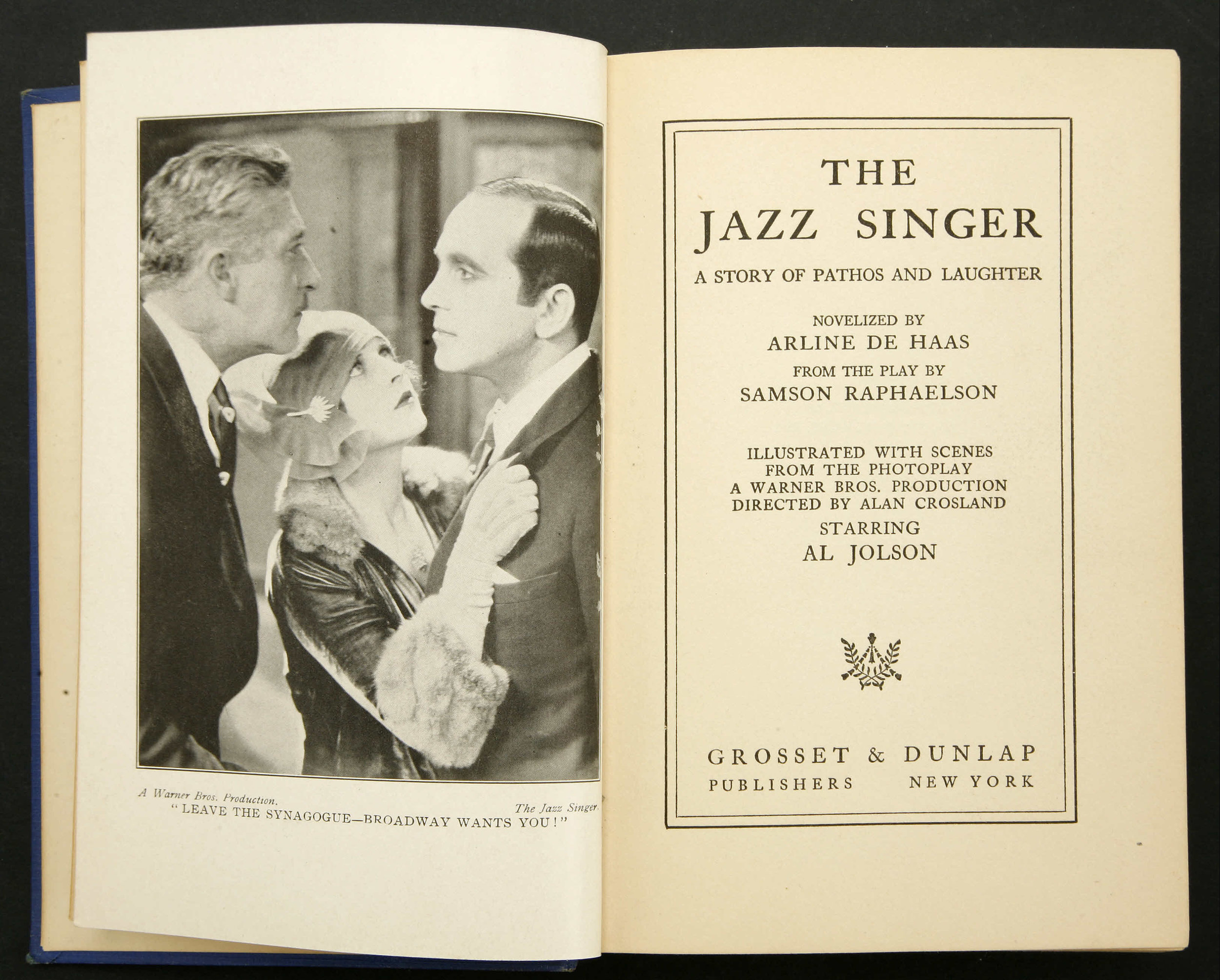 The Jazz Singer , Photoplay Edition Book, 1927