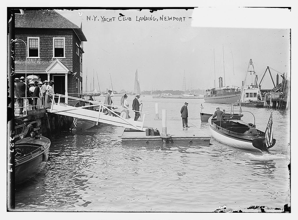 N.Y. Yacht Club Landing Newport, between ca. 1910 and ca. 1915 (The George Grantham Bain Collection - Library of Congress archive)