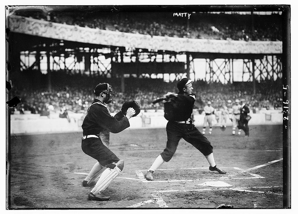 Baseball's all-time great pitchers, Christy Mathewson, 1911 (The George Grantham Bain Collection - Library of Congress archive)