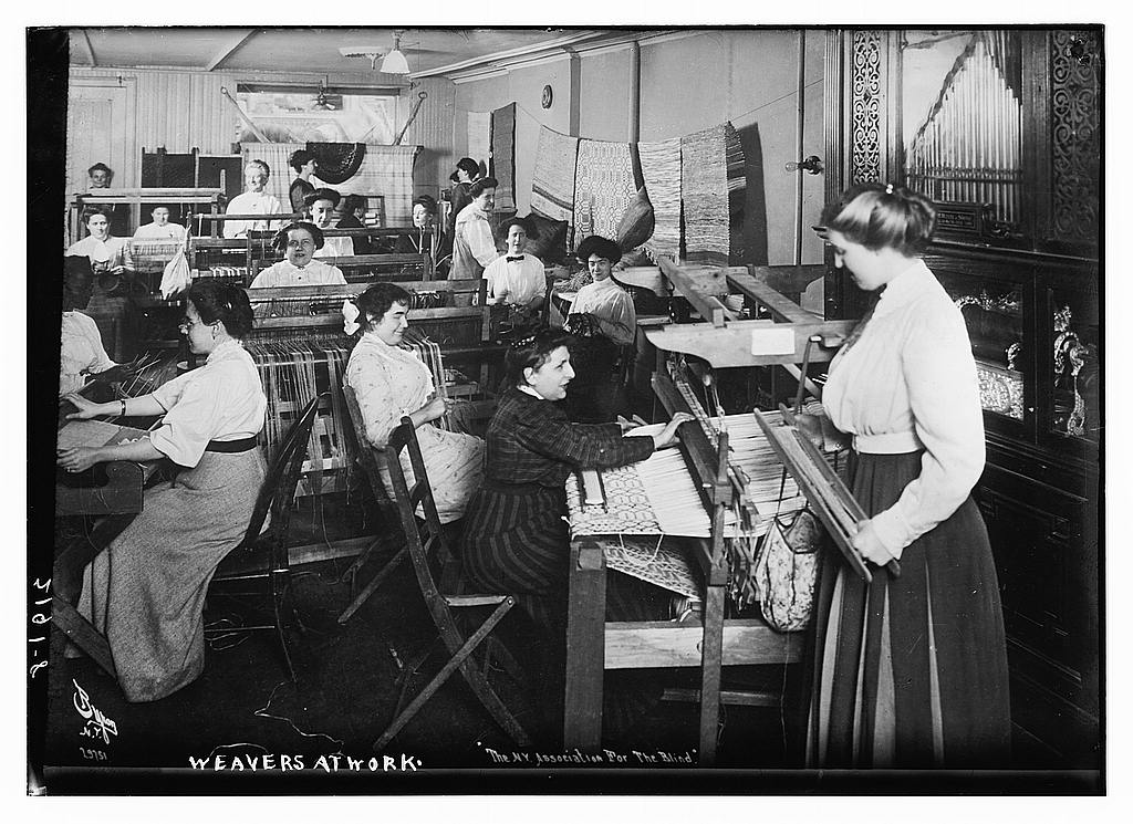 Weavers at work, between ca. 1910 and ca. 1915 (The George Grantham Bain Collection - Library of Congress archive)