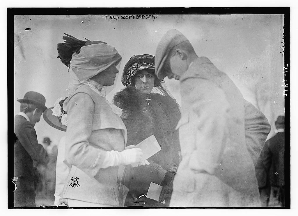 Mrs. A. Scott Burden, 1911 (The George Grantham Bain Collection - Library of Congress archive)