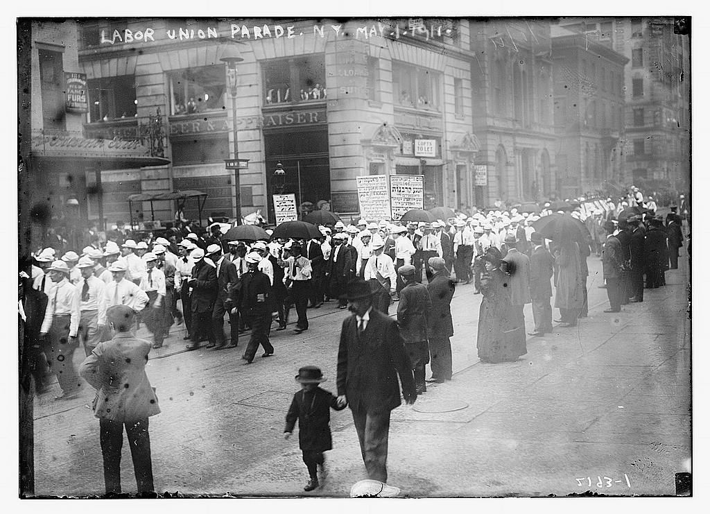 Labor union parade, NY, 1911 (The George Grantham Bain Collection - Library of Congress archive)