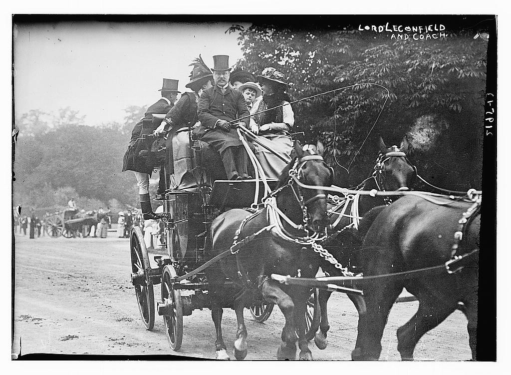 Lord Leconfield and Coach, between ca. 1910 and ca. 1915 (The George Grantham Bain Collection - Library of Congress archive)