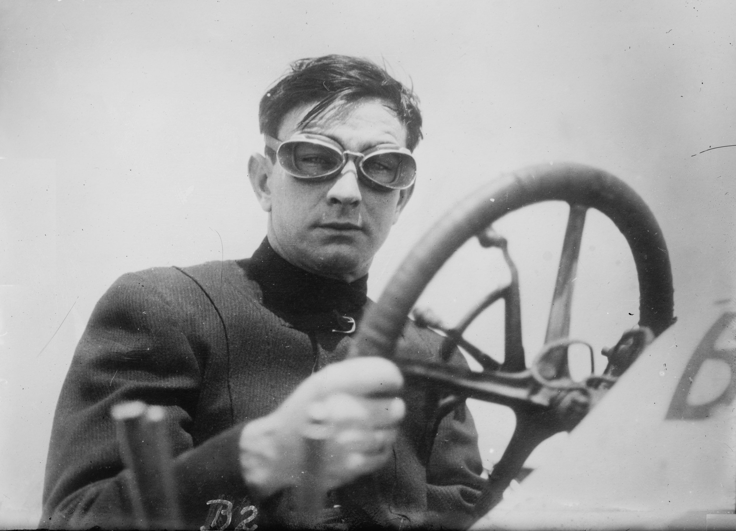 Race car driver Bob Burman, 1911 (The George Grantham Bain Collection - Library of Congress archive)