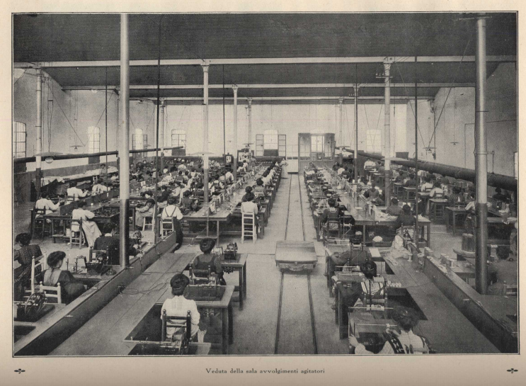 Female workers at  Ercole Marelli , 1911