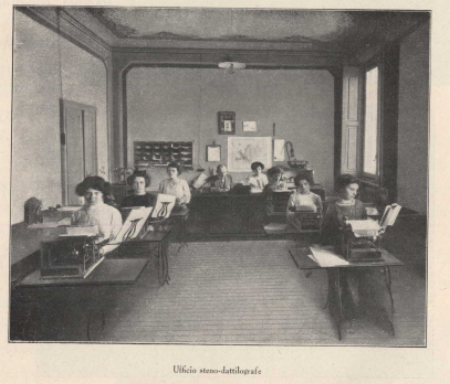 Typists office at Ercole Marelli, 1910s