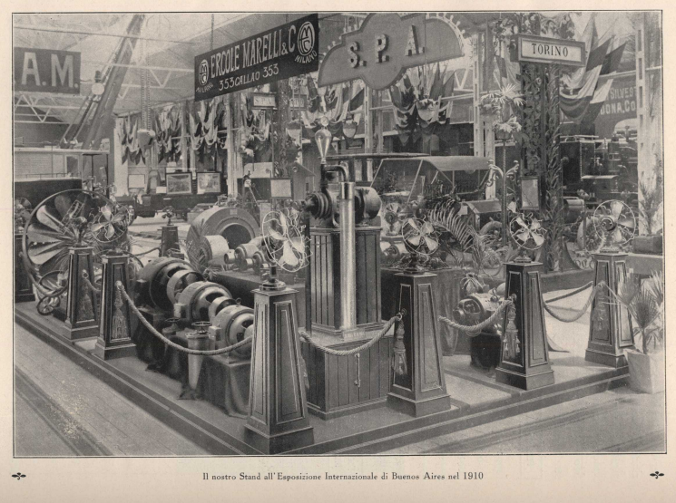 """""""Ercole Marelli"""" stand at the Buenos Aires International Exposition of 1910"""