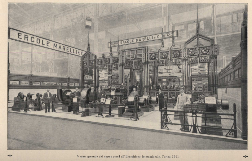 Ercole Marelli stand at International Exposition of Turin, 1911