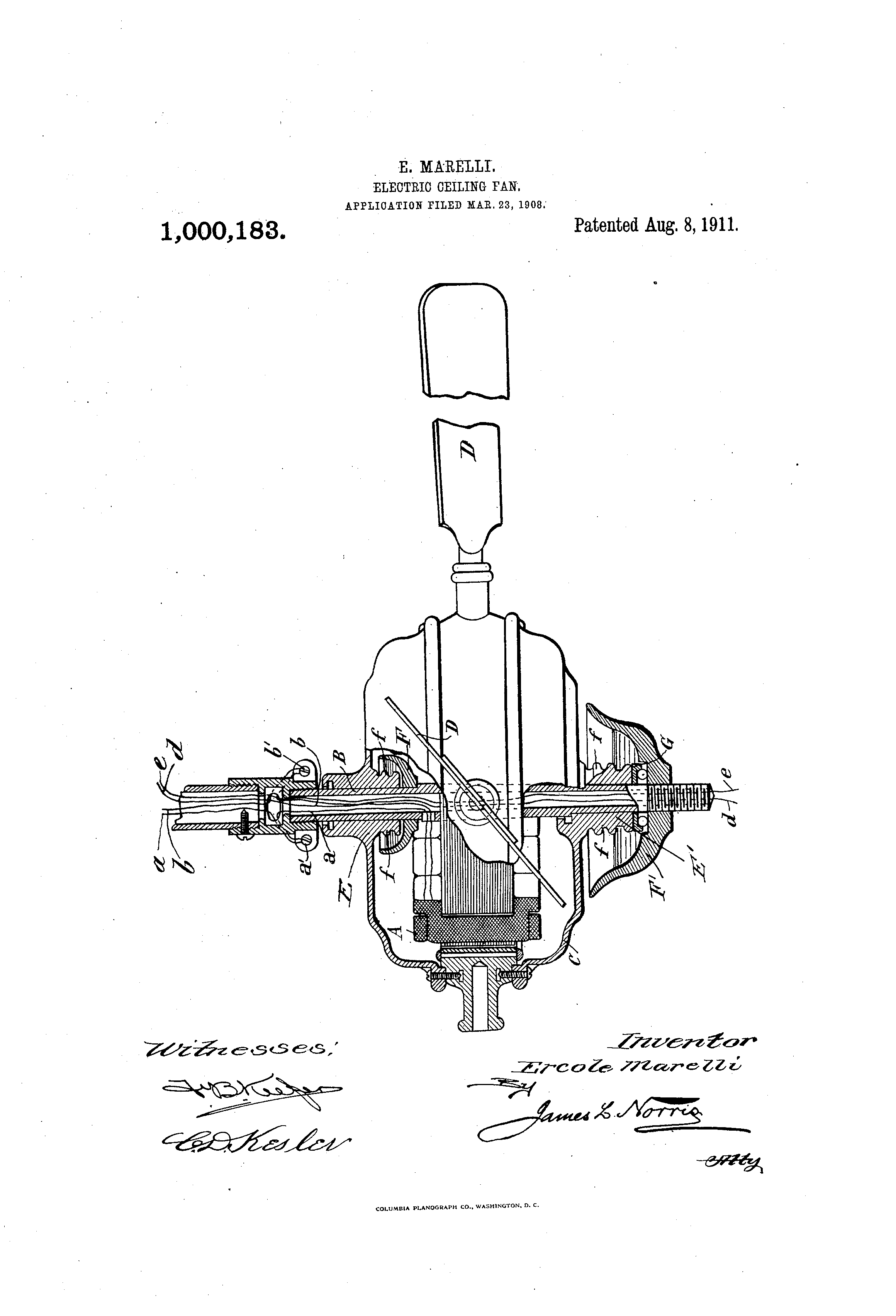 Electric ceiling fan marelli patent.png