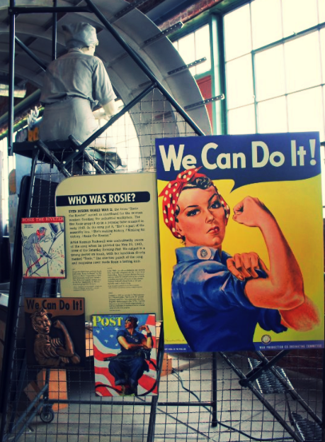 """Inside the Visitor Center of the Home Front National Historical Park in Richmond, California. This place can be considered a true memorial of """"Rosie the Riveter"""" iconic inspirational female character of WWII."""