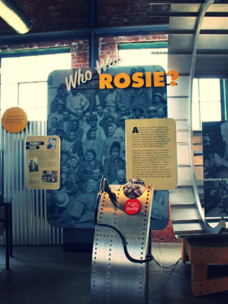 Inside the Visitor Center of the  Home Front National Historical Park  in Richmond, California, where Naomi Parker-Fraley attended the Rosie the Riveter/World War II reunion in 2011. it is during this gathering event that Naomi found out she was the real-life Rosie.