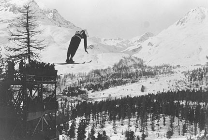 Ski Jumping event at the 1928 Winter Olympic Games in St. Moritz