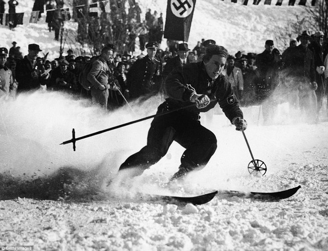 Alpine Skiing at the 1936 winter Olympic Games in  Garmisch-Partenkirchen  (Germany)