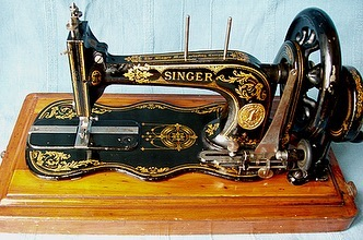 No one invention has brought with it such a great relief for our mothers and daughters as these cast iron treadle sewing machines. Before their invention housewives spent much of their time maintaining their family's clothing. Powered by a foot pedal, they stood out for being a true revolution during the time they were invented. The time for making a dress or repairing it was drastically reduced, letting women have more spare time. With the help of these mechanical sewing models, seamstress did not have to spend 14 hours to make a piece of cloth anymore and dressmaking became large-scale factory.  Even though these machines would appear so old and obsolete today, most of the models can still be used if well cared and restored over time. This makes these machines an eloquent testimony of the quality of these early models, because they are strong and so many have survived over time. Among the most high quality models produced between the 1900s and the 1930s, Singer for example built a durable machine and its antique treadle sewing machines still exist. . . . . #vintagesewingmachine #singersewingmachine #bliss  #blissfrombygonedays #bygonedays #vintage #vintagestyle #fashion #vintagemagazine #lifestyle #posters #vintageposter #vintageadvertising #illustrator #vintageillustration #antiques #vintagephoto #vintagepictures #blackandwhitephotography #oldphoto #vintagefashion  #oldpictures #1800s #vintageinteriors #vintagelove #vintagelife #vintagedress #pfaffsewingmachines