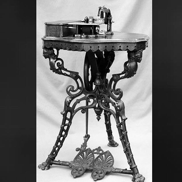 "Whight & Mann ""Alberta"" sewing machine on tripod, 1860s . . . . #bliss  #blissfrombygonedays #bygonedays #vintage #vintagestyle #fashion #vintagemagazine #lifestyle #posters #vintageposter #vintageadvertising #illustrator #vintageillustration #antiques #vintagephoto #vintagepictures #blackandwhitephotography #oldphoto #vintagefashion  #oldpictures #1800s #vintageinteriors #vintagelove #vintagelife #victorian #vintagesewingmachine #victorianbeauty"