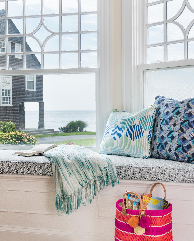 Rhode Island, Easton's Beach, Newport, Rhode Island Design, interior design, beach design, ocean, living space, living room, window seat