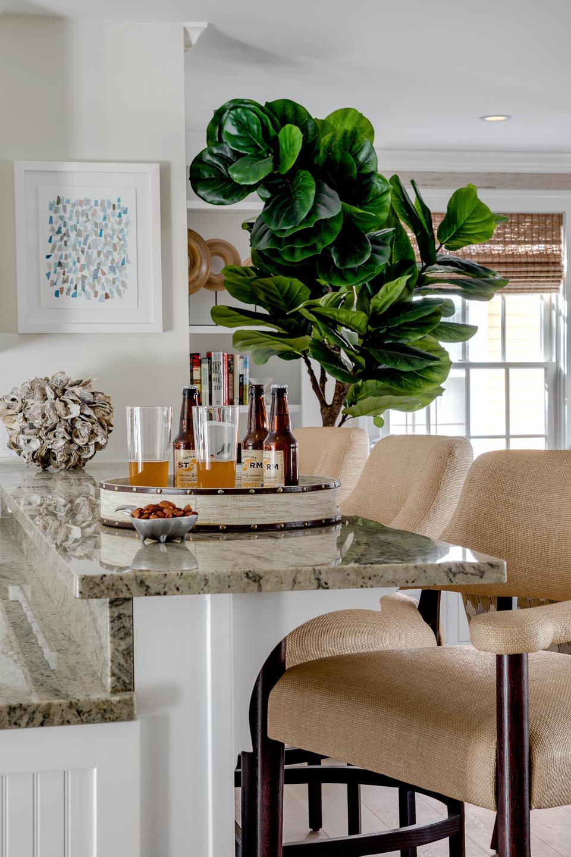 Newport, Rhode Island, Interior design, Rhode Island interior designer, kitchen bar, bar seating, Newport Storm