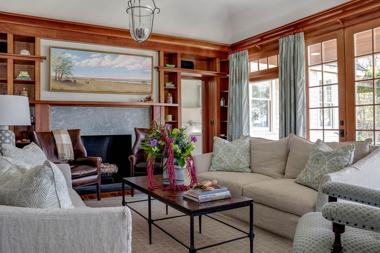 living room, interior design, Rhode Island, New England interior designer