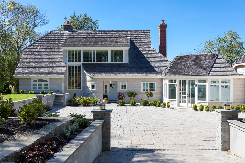 Rhode Island design, New England house, home, courtyard