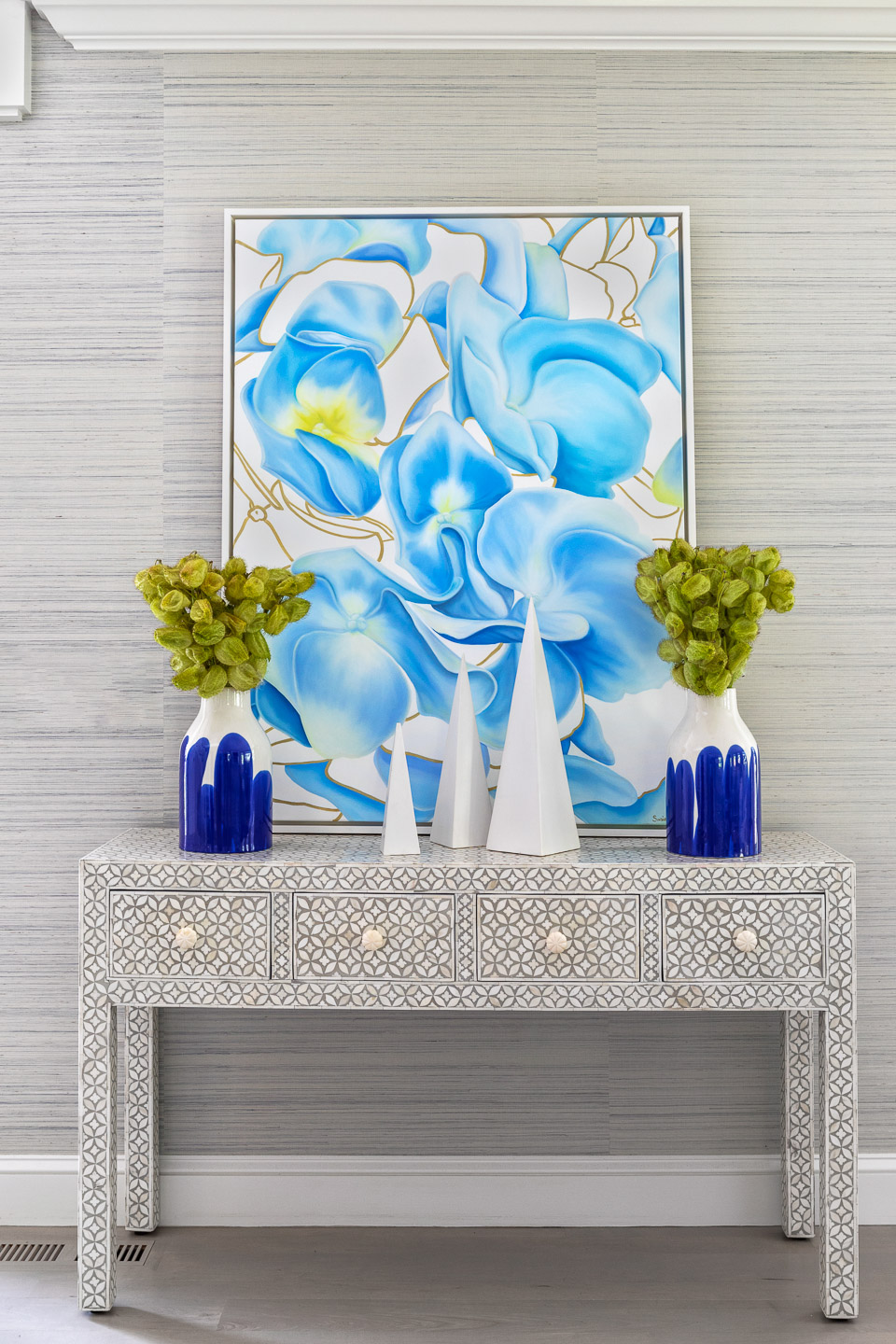 front hall table, banquet table, console table, console table decor,