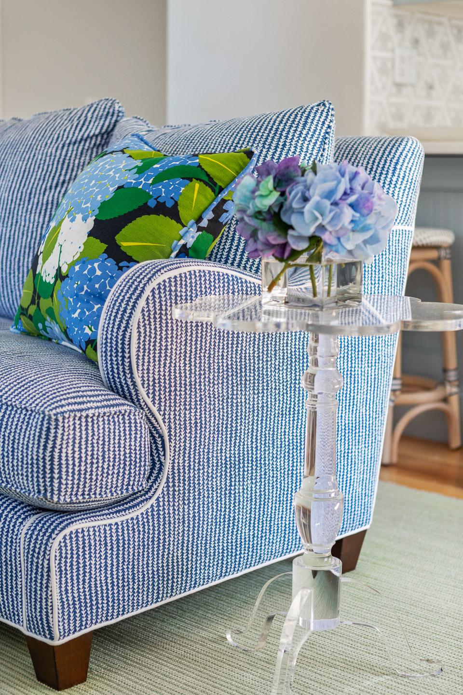 Rhode Island interior designer, Newport, Rhode Island, interior design, living room design, lucite table, family room design ideas