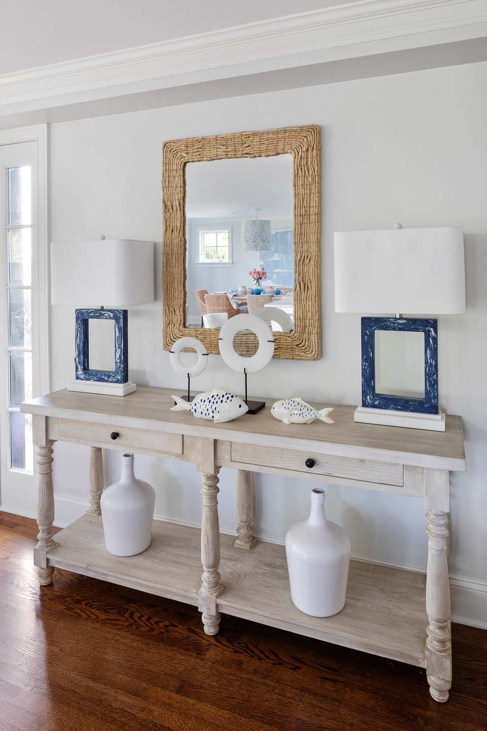 Rhode Island, interior design, interior designer, console table, console table decorating ideas