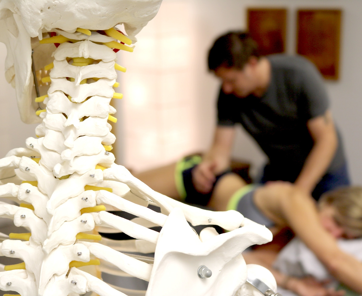 Rob Miller during a Rolfing session with a client