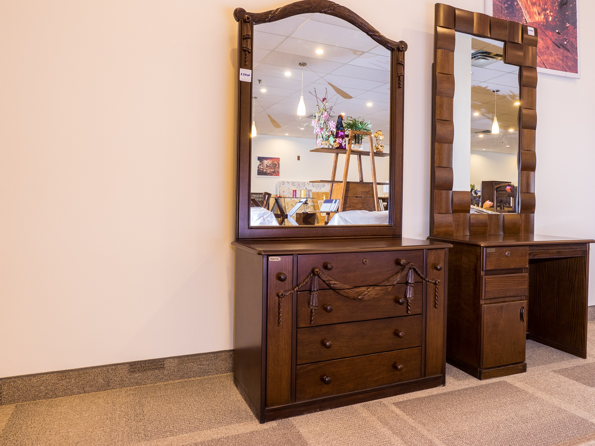 Assortment of our dressing tables and wardrobes