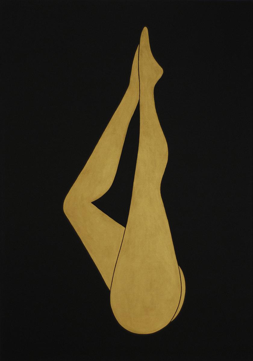 golden girls #2 acrylic on canvas,100 cm x 50 cm, 2015
