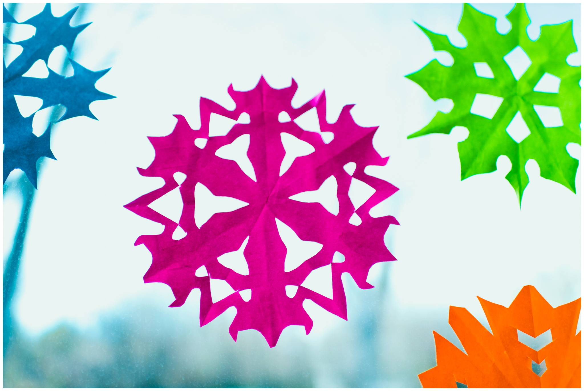 making paper snowflakes