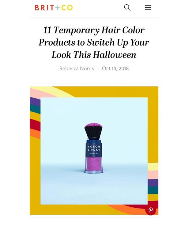 "Looking to channel your inner unicorn this Halloween?! @truhair's NEW ""Color & Play"" temporary pigment hair powder has you covered 🦄💁🏼‍♀️! #mavnprclientnews #beautyPR {thanks @rebeccaravee 😘}"