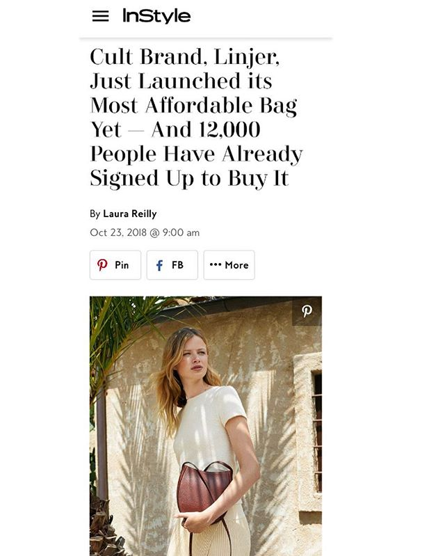 "@linjerco introduces ""The Sling Bag"" today! It's chic, minimal, and comes with an affordable price tag too 💁🏼‍♀️ more deets via @instylemagazine! #linjerco #fashionPR #mavnprclientnews"
