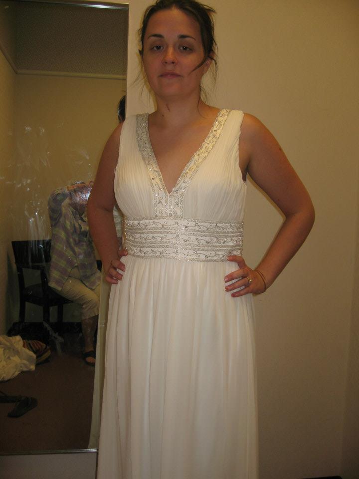 Snapshot: Wedding dress shopping in pain.