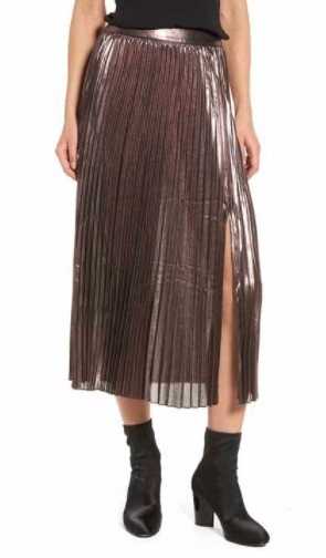 trouve metallic pleated skirt.PNG