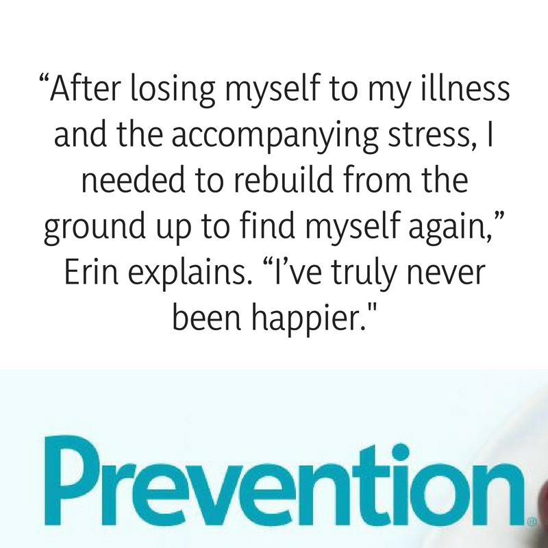 """After losing myself to my illness and the accompanying stress, I needed to rebuild from the ground up to find myself again,"" she explains. ""I've truly never been happier..png"