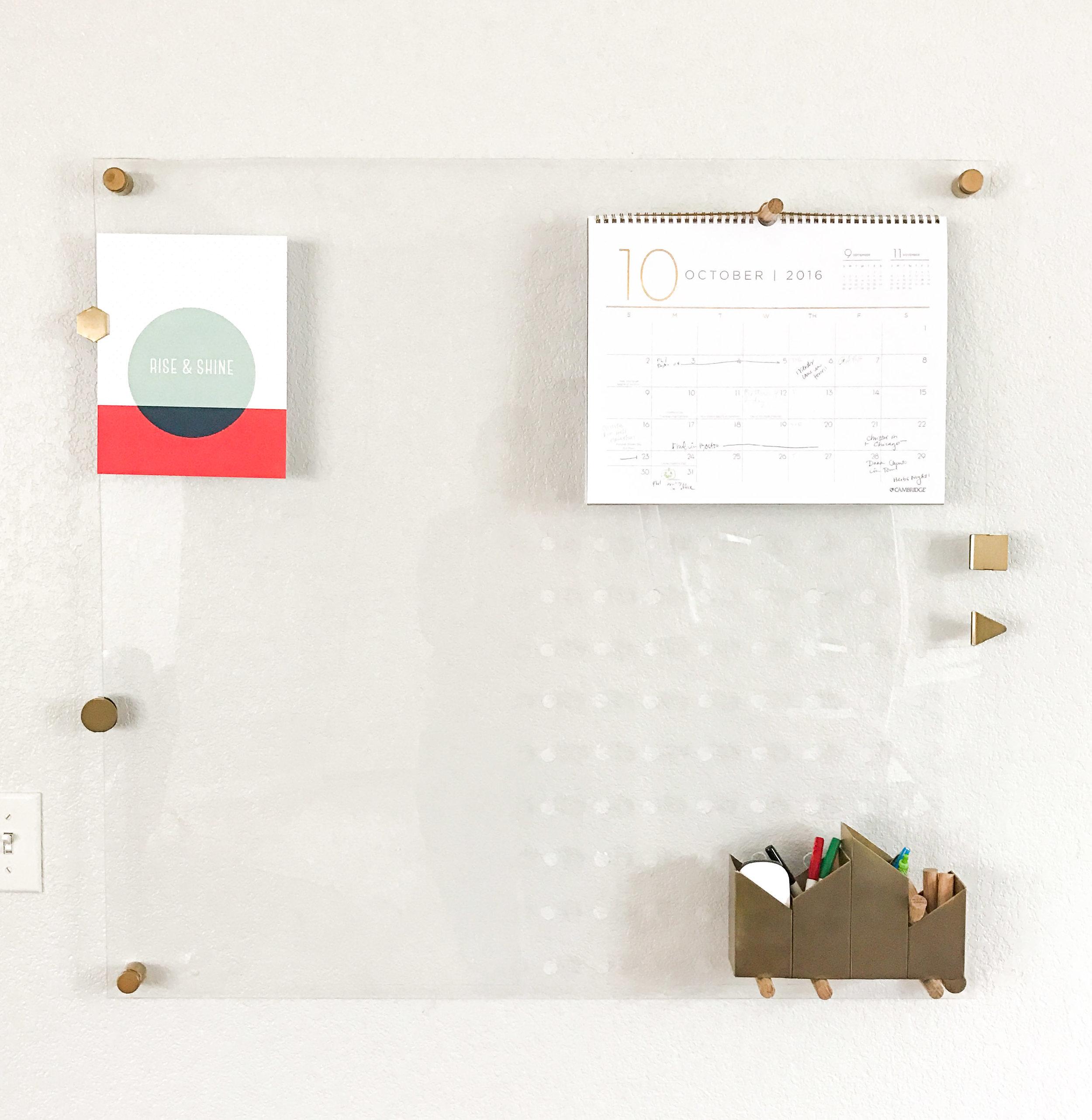 Acrylic Dry Erase Peg board
