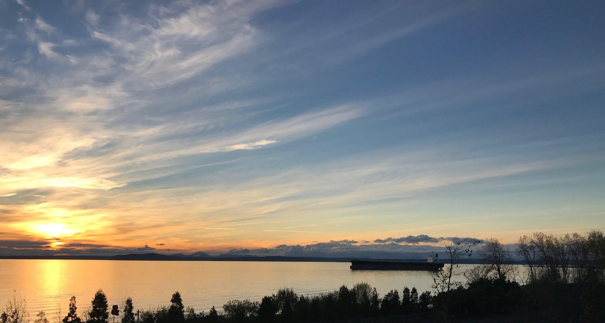 Seattle sunset last fall.